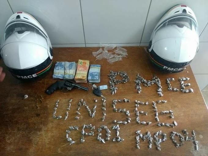Policiais militares capturam acusado de assaltar o posto de gasolina da Cohab III.