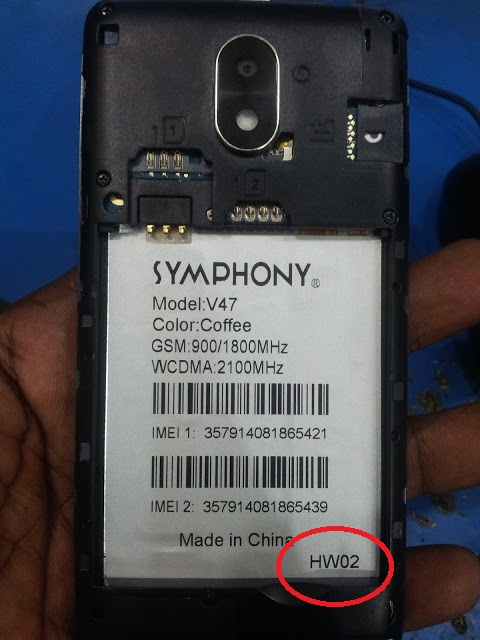 Symphony V47 HW2 Flash File