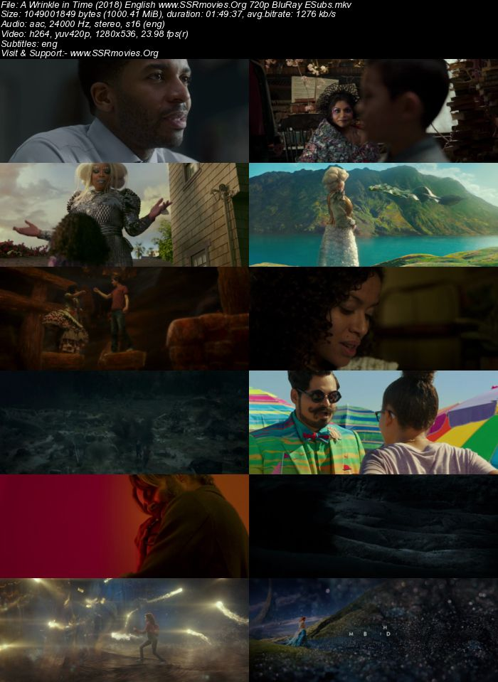 A Wrinkle in Time (2018) English 720p BluRay