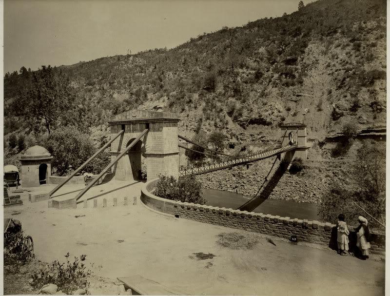 The Kohala Bridge across the Jhelum River - Entrance to Kashmir 1880's