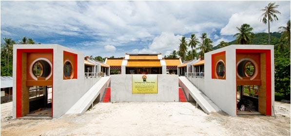 ศาลเจ้ากวนอูเกาะสมุย ที่กำลังก่อสร้าง