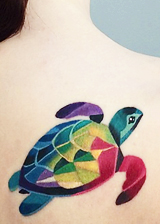 Turtle Watercolor Tattoos