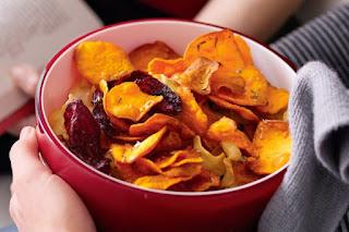 chips de légumes saines