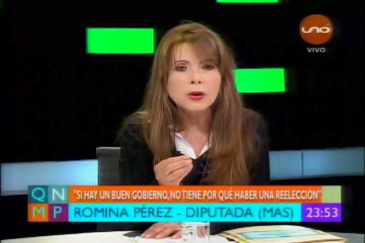 DIPUTADA ROMINA PÉREZ SOSTIENE QUE NO HAY LÍMITE PARA LA REELECCIÓN DE EVO MORALES