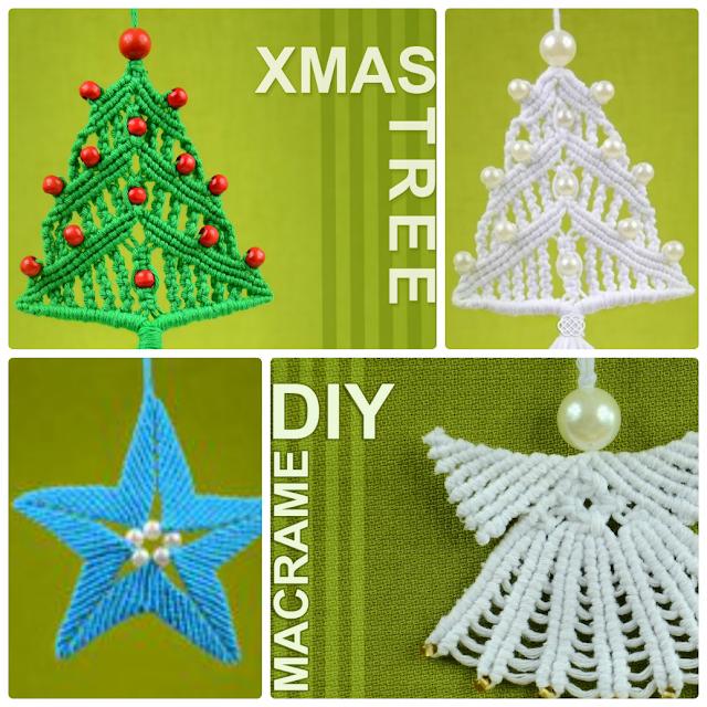 Como hacer 3 Diy Navidad de Macrame