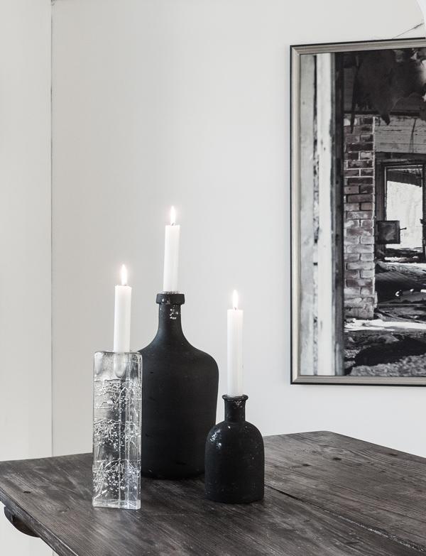Iittala, Timo Sarpaneva, Arkipelago, kynttilänjalka, asetelmia, kynttilät