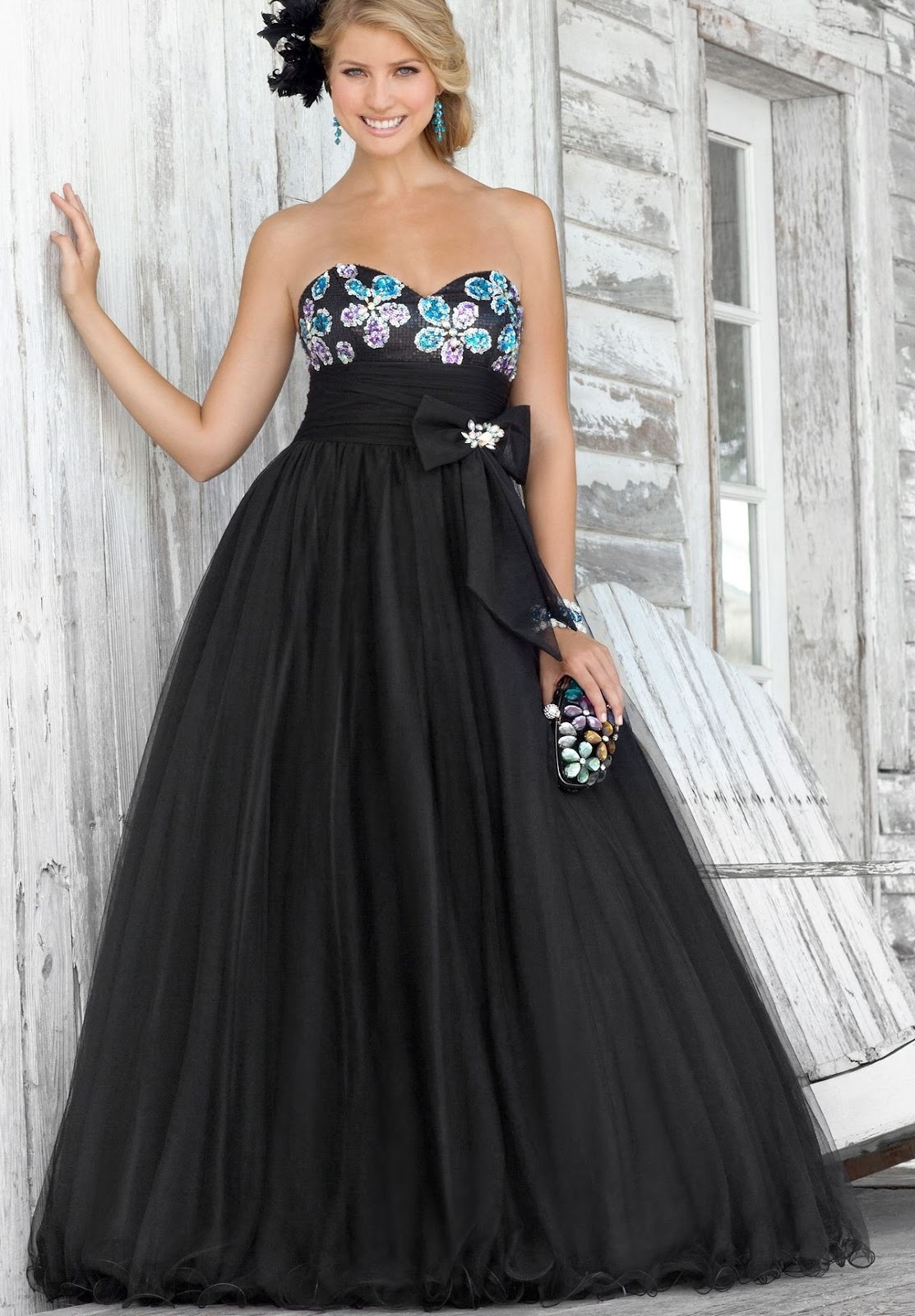 Black Sexy Ball Gown