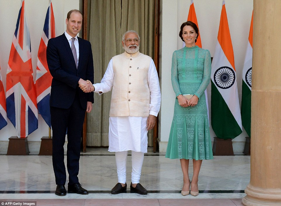 The Duke and Duchess of Cambridge met with the India Prime Minister in Delhi