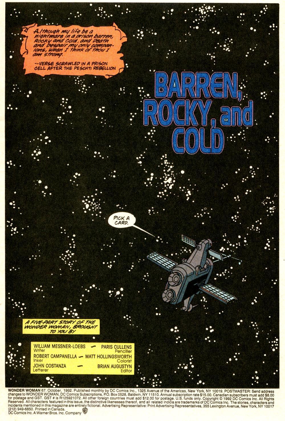 Read online Wonder Woman (1987) comic -  Issue #67 - 2