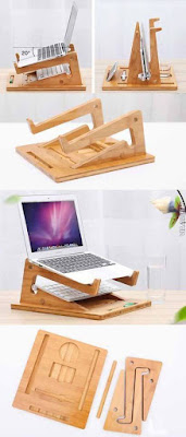 Ideas de apoya laptop en madera