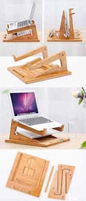 Ideas de apoya laptop en madera