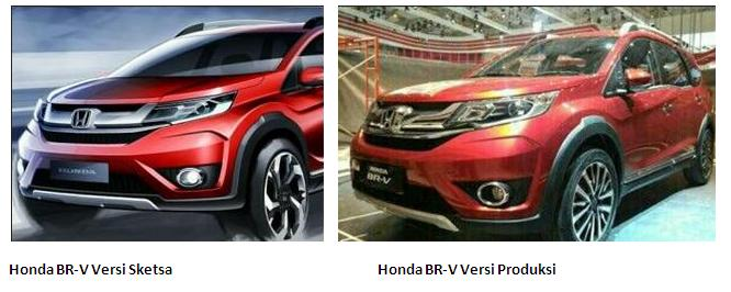 Honda BR-V Sketch vs Honda BR-V production version