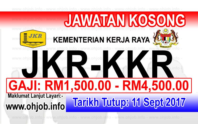 Jawatan Kerja Kosong Kementerian Kerja Raya - KKR logo www.ohjob.info september 2017