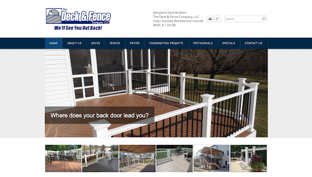MARYLAND WEB DESIGNER RANDY TUGGLE for THE DECK and FENCE COMPANY