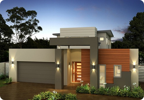 Construindo minha casa clean fachadas de casas quadradas for Casa moderna por fuera