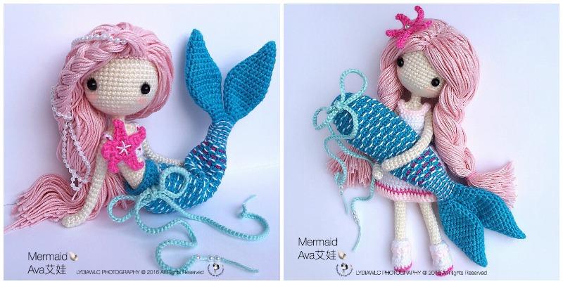 7 Magical Mermaid Amigurumi Patterns - Amigurumi ZA   404x800