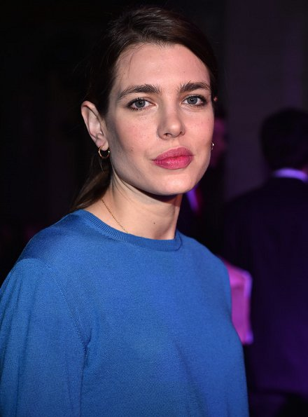 Charlotte Casiraghi attended the Stella McCartney show as part of the Paris Fashion Week. Charlotte wore Gucci Embroidered jersey stirrup legging