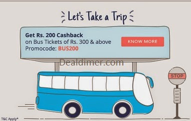 Bus Tickets booking at PayTM