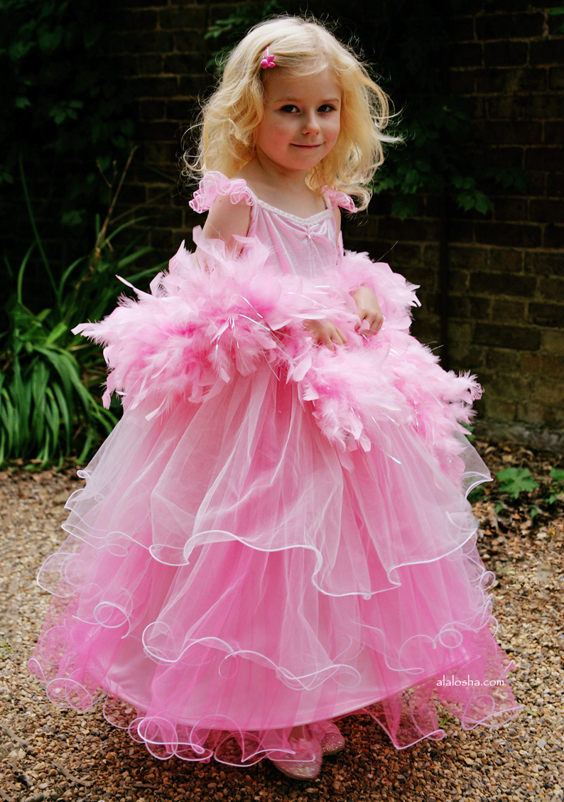 Child Wedding Dress Costume 62 Fabulous Girls flouncy pink party