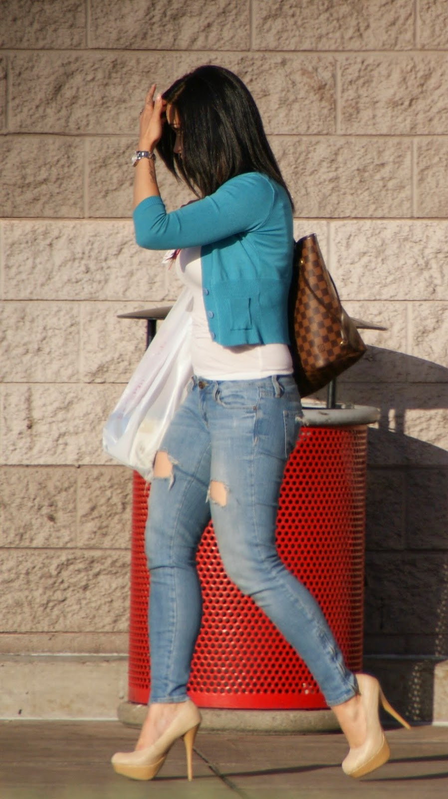 Sexy Girls On The Street, Girls In Jeans, Spandex And -8613