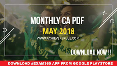 Monthly Current Affairs GK - May 2018 PDF Download