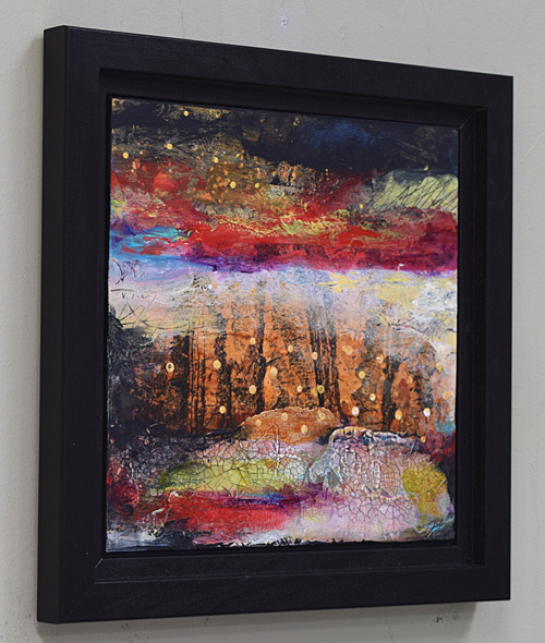 colorful square abstract resin painting