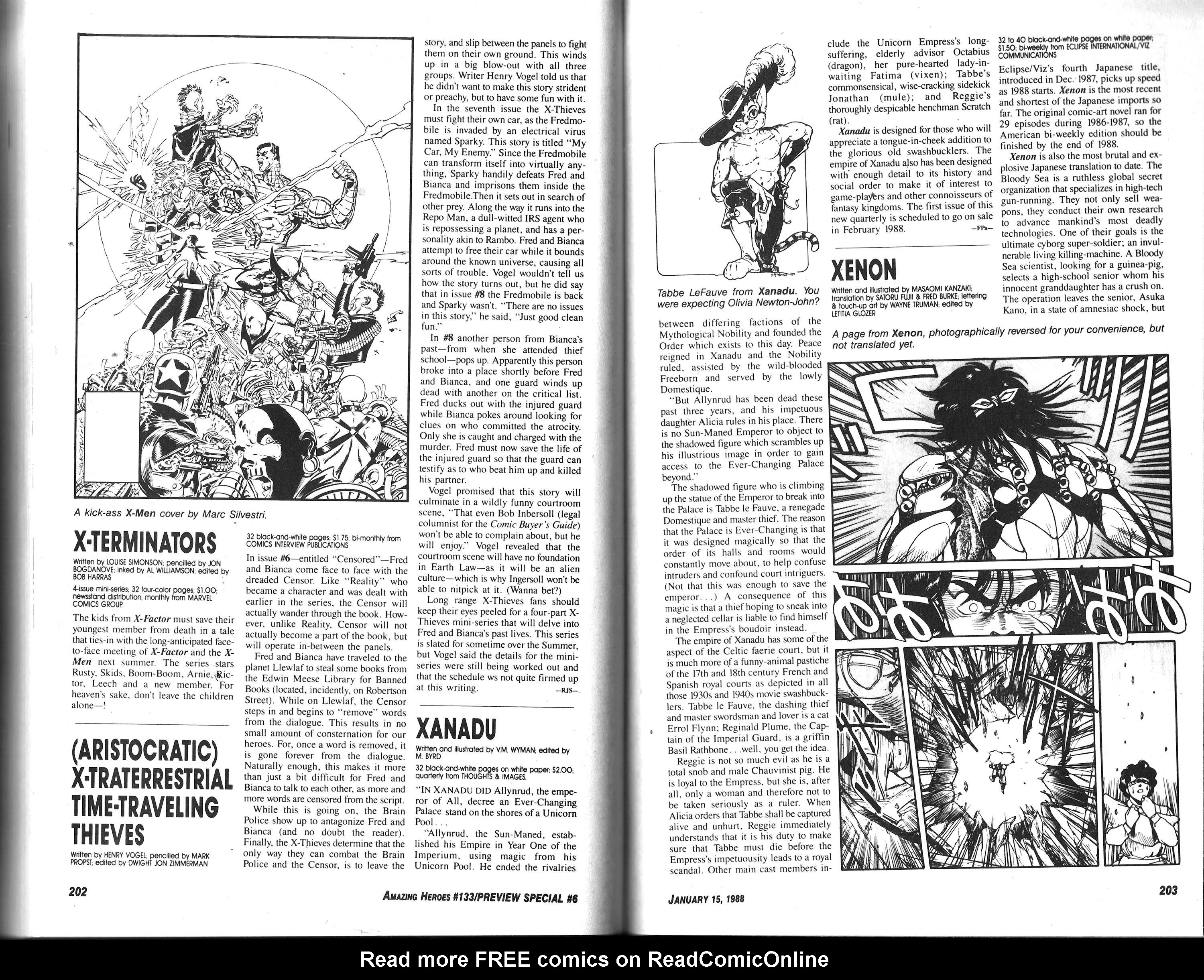 Read online Amazing Heroes comic -  Issue #133 - 103