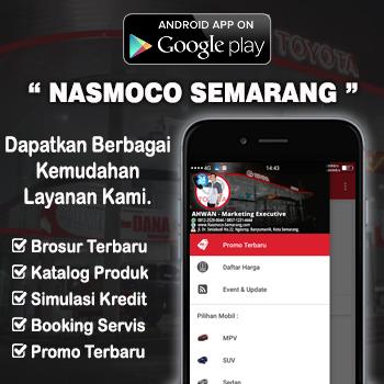 Aplikasi Android Dealer Mobil Toyota Nasmoco emarang Pati Kudus Purwodadi Salatiga Kendal Jepara Ungaran