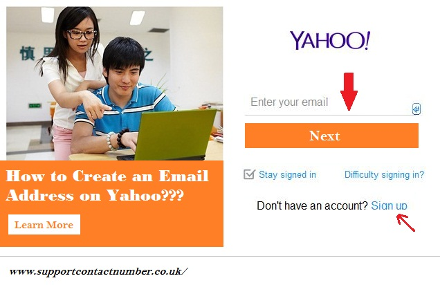 Create an Email Address on Yahoo