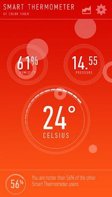 Download APlikasi Smart Thermometer APK for Android untuk Ubah HP Menjadi alat pengukur suhu gratis