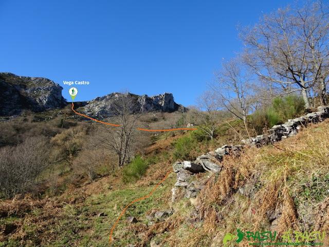 Zona de acceso a Vega Castro desde Cogollu