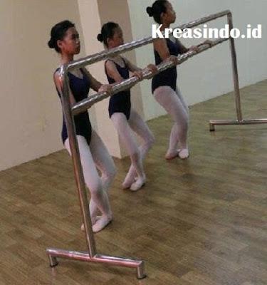 Harga tiang movable ballet stainless buat nari ballet
