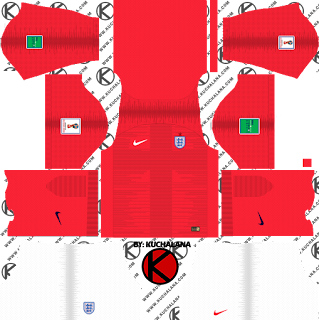 England 2018 World Cup Kit -  Dream League Soccer Kits