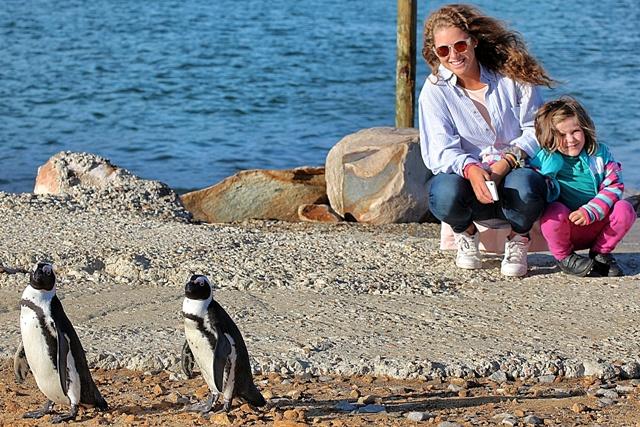 Pingus posando con Helia y Alba