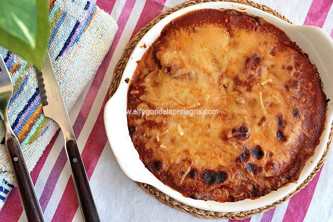 Parmigiana de berenjenas o berenjenas a la parmesana casera