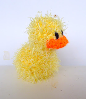 crochet amigurumi little yellow fluffy duck