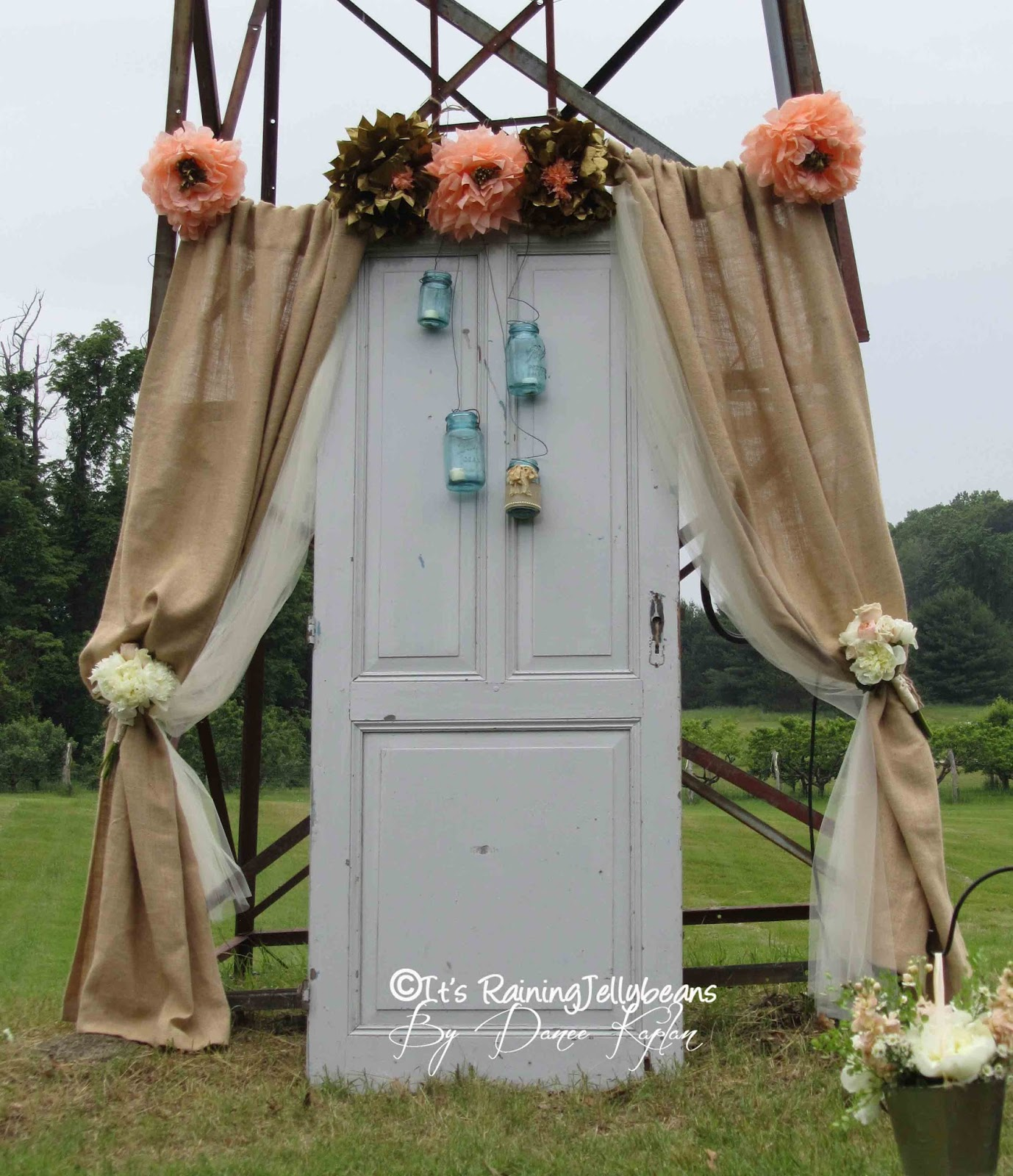 Rustic Door Wedding Ideas: It's Raining JellyBeans: Wedding: Altar