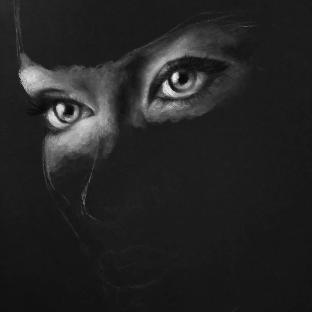 10-Eyes-the-Windows-to-the-Soul-Krystan-Grace-Humans-and-Dogs-Charcoal-Portrait-Drawings-www-designstack-co