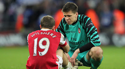 wilshere and scczesny arsenal best friends