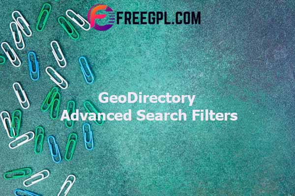 GeoDirectory Advanced Search Filters Nulled Download Free
