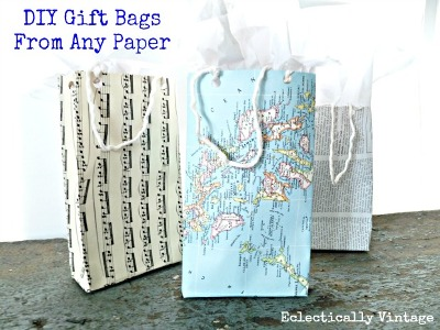 Gift bag adalah alternatif bagus untuk mengemas kado. Lebih baik lagi kalau memanfaatkan kertas bekas untuk membuatnya.
