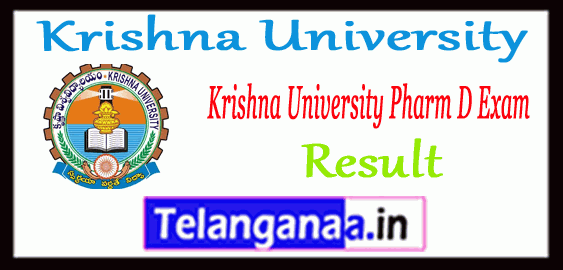 Krishna University Pharm D 1st 2nd 3rd 4th 5th Year Result