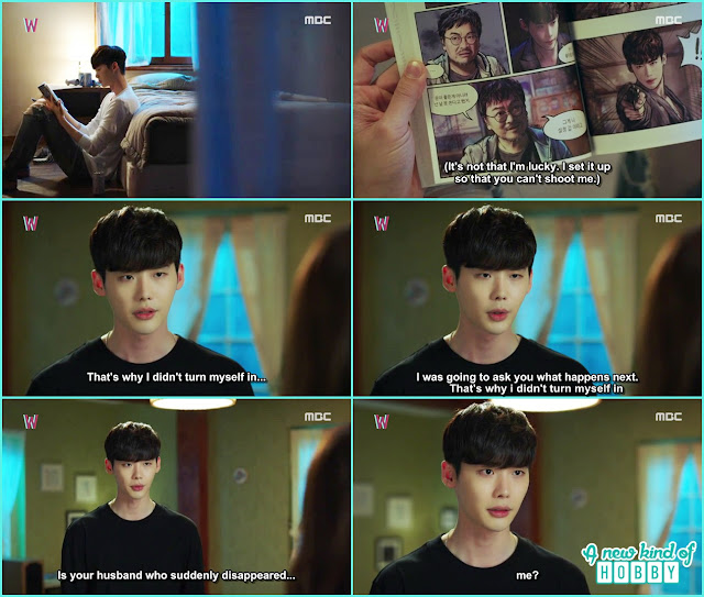 kang chul ask yeon jo if he is the husband she is looking for  - W - Episode 11 Review
