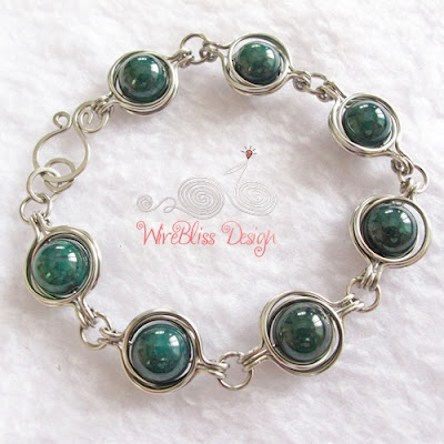 Twice Around the World (TAW) wire wrapped bracelet Tutorial