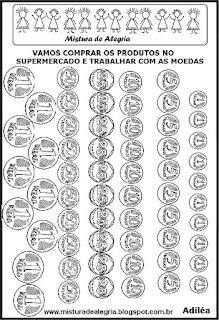 Modelos de moedas para imprimir
