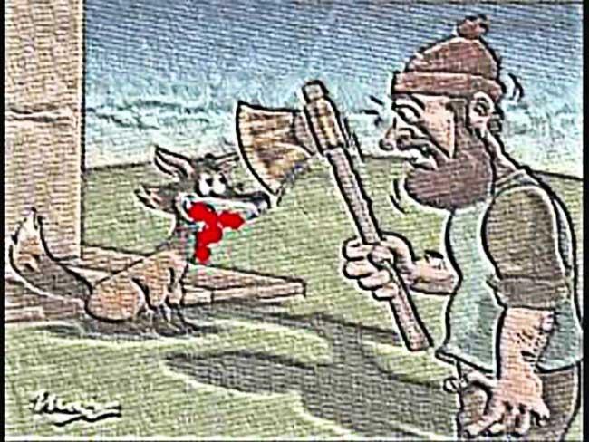 O lenhador e a raposa