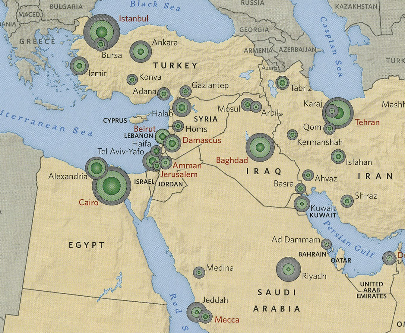 maps in the news iraq