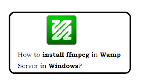 How to install ffmpeg in wamp server in Windows7