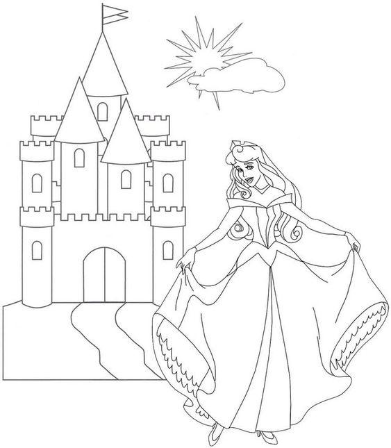 Tranh tô màu nàng công chúa ngủ trong rừng 15