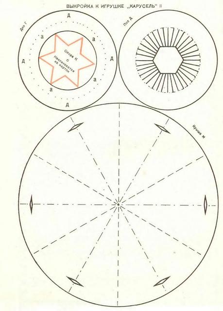 Механическая карусель выкройка